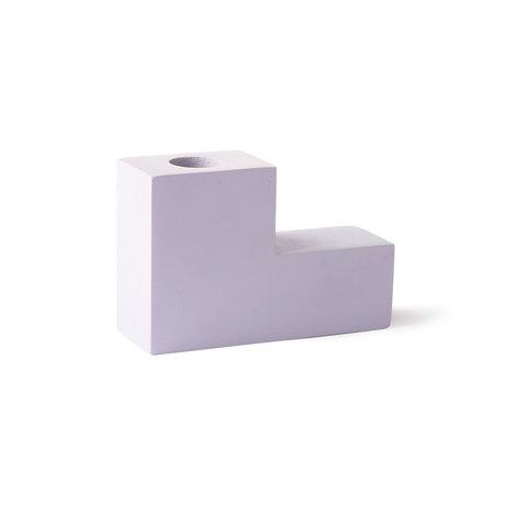 HK-living Bougeoir escalier lilas béton 12x4x8cm