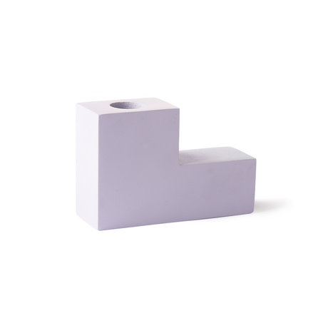 HK-living Candlestick Stairs lilac concrete 12x4x8cm