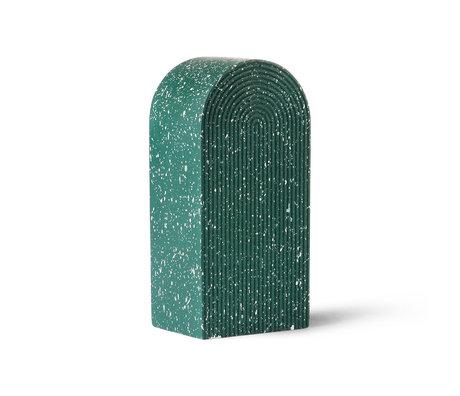 HK-living Ornement Terrazzo Arch béton vert 8x16x17cm