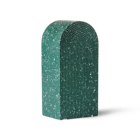 HK-living Ornament Terrazzo Arch grüner Beton 8x16x17cm