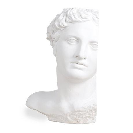 HK-living Apollo ornement en plâtre blanc 27x30x41cm