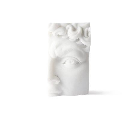HK-living Ornement David Brick Fragment en résine blanche 9x7x16cm