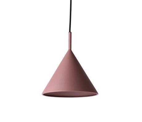 HK-living Hängeleuchte Triangle M matt lila pink Metall 22x22x25cm