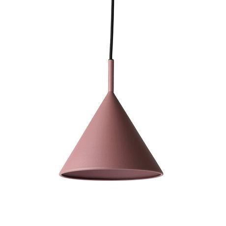 HK-living Hanglamp Triangle M mat paars roze metaal 22x22x25cm