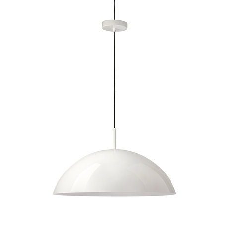 HK-living Hanging lamp Culopa white acrylic textile 56x56x20cm