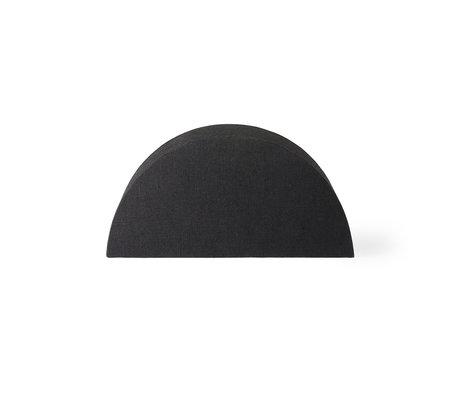 HK-living Lampshade Semicircle S black burlap 27x12x13.5cm