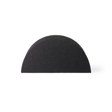 HK-living Abat-jour demi-cercle S jute noire 27x12x13.5cm