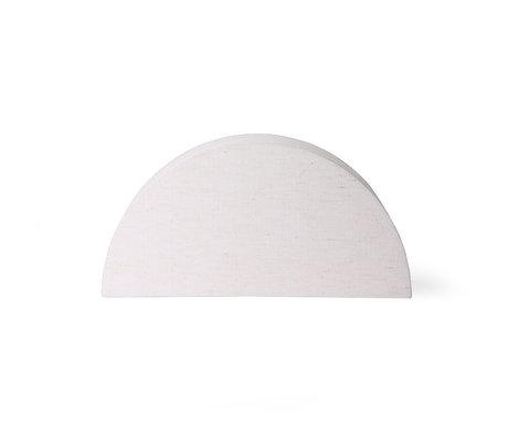 HK-living Lampenkap Semicircle L naturel jute 36x16x18cm