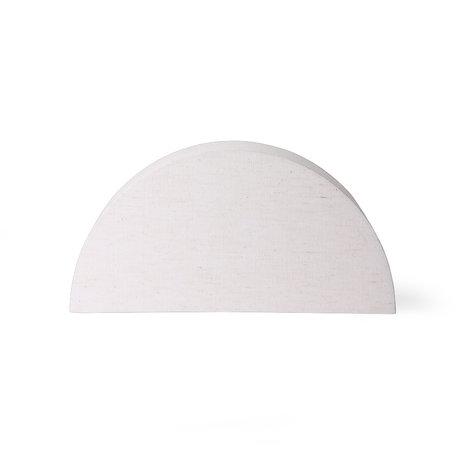 HK-living Lampshade Semicircle L natural burlap 36x16x18cm