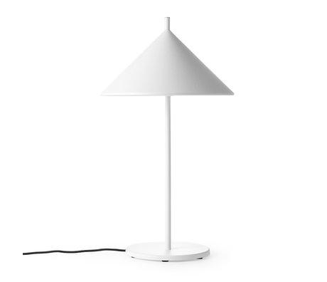 HK-living Tischleuchte Triangle M weiß matt 25x25x48cm