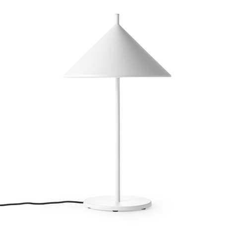 HK-living Table lamp Triangle M matt white metal 25x25x48cm
