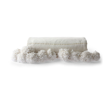 HK-living Plaid Striped coton or blanc 130x70cm