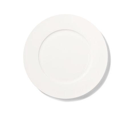 HK-living Assiette plate Athena en os blanc porcelaine fine Ø28cm