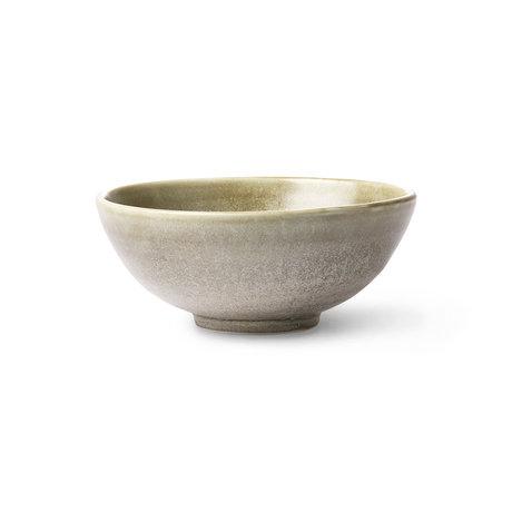 HK-living Saladier Kyoto rustique vert gris porcelaine 18x18x7cm
