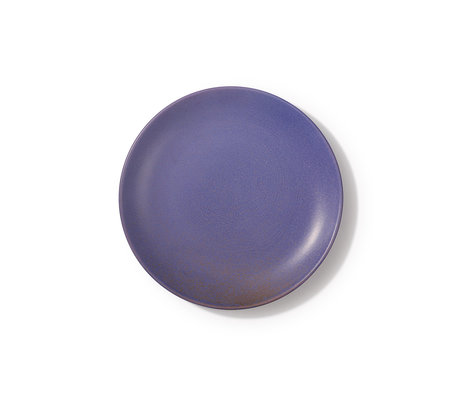HK-living Bord Bold&basic paars porselein 20,7x20,7x2,1cm