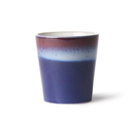 HK-living Mug 70's Air multicolore en céramique 7,5x7,5x8cm