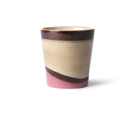 HK-living Becher 70's Dunes mehrfarbig Keramik 7,5x7,5x8cm