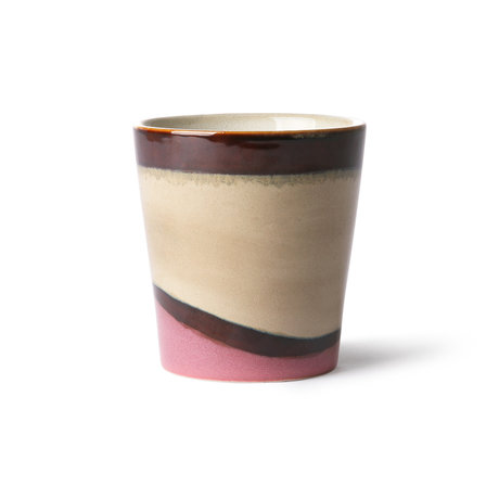 HK-living Mug 70's Dunes multicolore en céramique 7,5x7,5x8cm