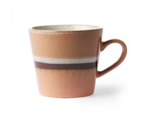 HK-living Cappuccino mug 70's Stream multicolour ceramic 12x9.5x8.5cm