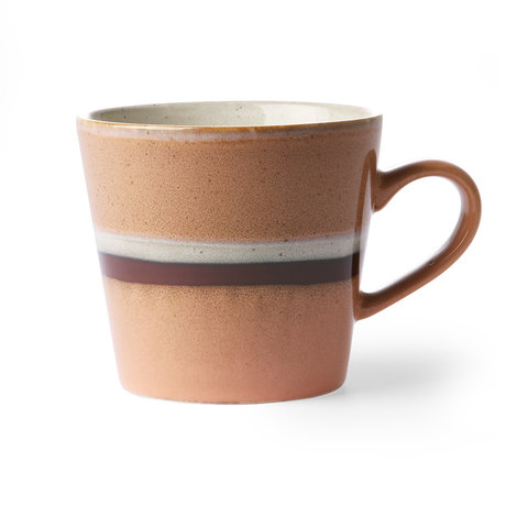 HK-living Cappuccinomok 70's Stream multicolour keramiek 12x9,5x8,5cm