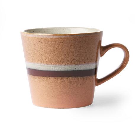 HK-living Mug Cappuccino 70's Stream en céramique multicolore 12x9.5x8.5cm