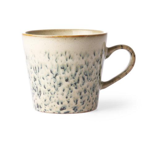 HK-living Cappuccino Becher 70er Jahre Hagel mehrfarbige Keramik 12x9.5x8.5cm