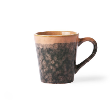HK-living Espresso mug 70's Lava multicolour ceramic 5,8x8x6,2cm