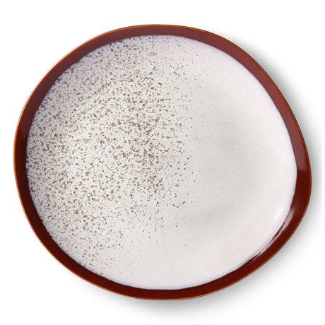 HK-living Assiette à dîner 70's Frost multicolore en céramique 29x29x2cm