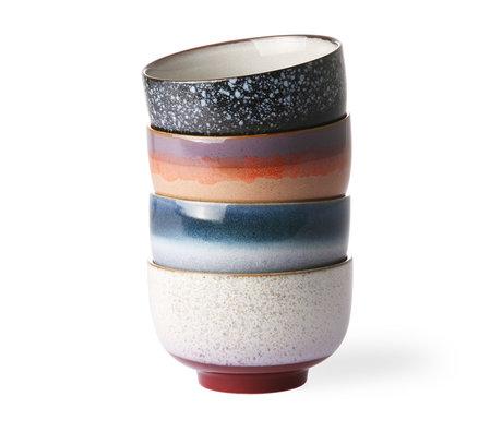 HK-living Échelle des années 70 en céramique multicolore lot de 4