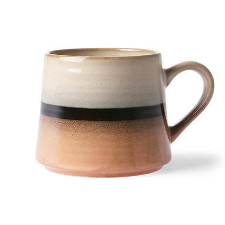 HK-living Tasse à thé style 70's Tornardo multicolore XL 9x10,5x9,2 cm