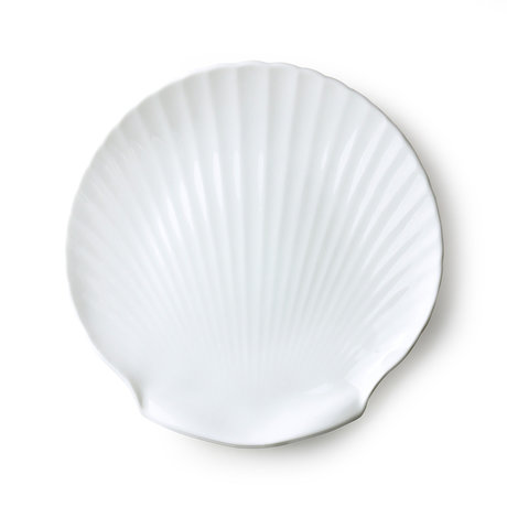 HK-living Dienblad Athena Shell wit keramiek 27x27x2,5cm