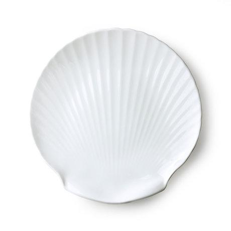 HK-living Tray Athena Shell white ceramic 27x27x2.5cm