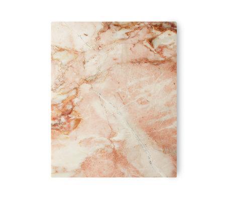 HK-living Planche à découper marbre poli rose 50x40x2cm
