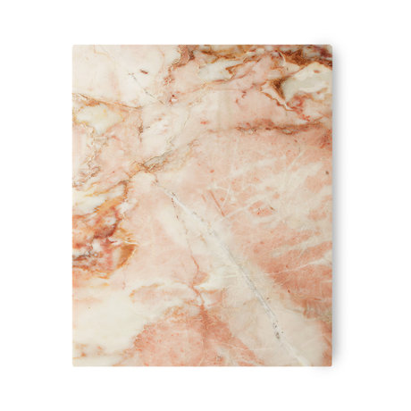 HK-living Schneidebrett rosa poliertem Marmor 50x40x2cm