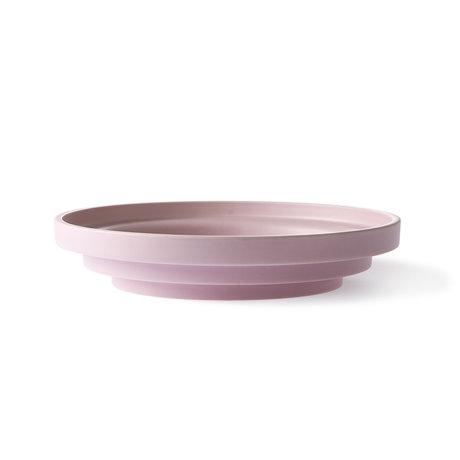 HK-living Plat en faïence rose romaine Ø32x6.5cm
