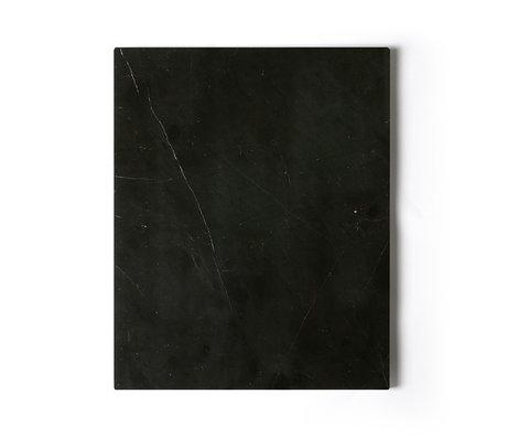 HK-living Planche à découper marbre poli noir 50x40x2cm