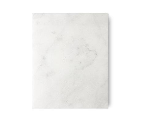 HK-living Planche à découper marbre poli blanc 50x40x2cm