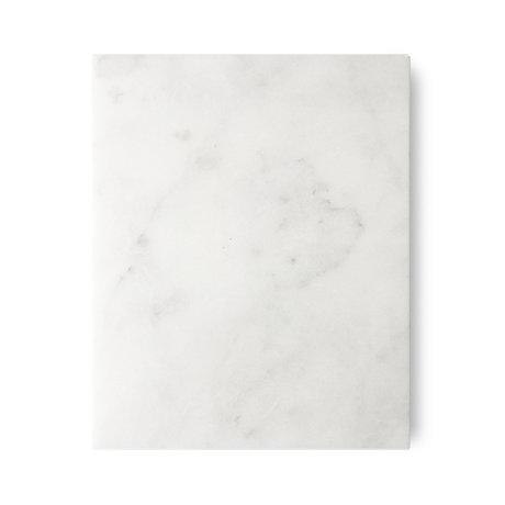 HK-living Cutting board white polished marble 50x40x2cm