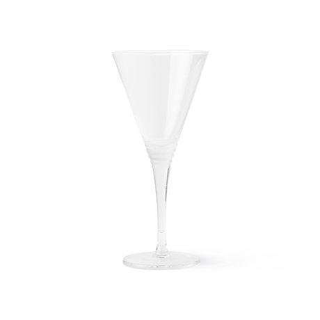 HK-living Cocktail glass Engraved transparent glass Ø8.5x18.5cm