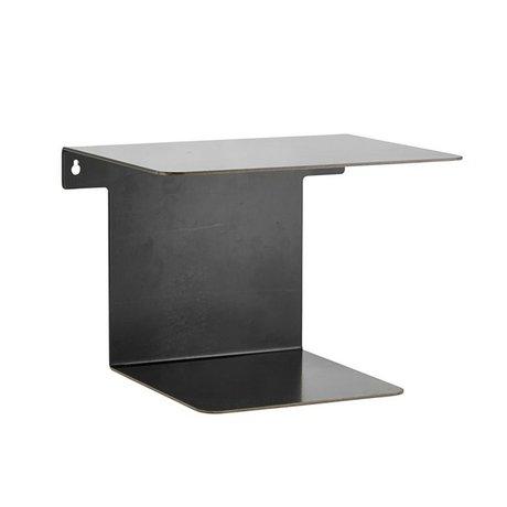 Housedoctor Bücherregal Antiker schwarzer Stahl 25x32x22,5 cm