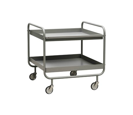 Housedoctor Trolley Roll grijs staal 60x60x60cm