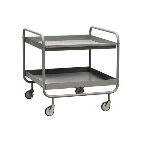 Housedoctor Trolley Roll gray steel 60x60x60cm