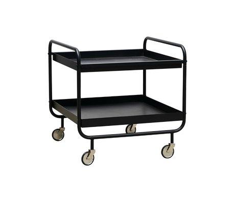 Housedoctor Rouleau Trolley acier noir 60x60x60cm