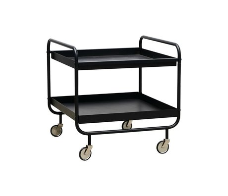 Housedoctor Trolley Roll zwart staal 60x60x60cm