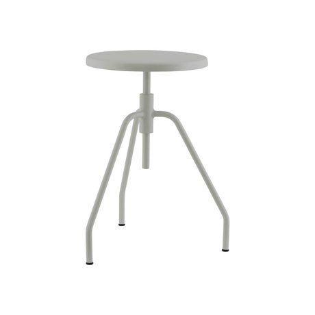 Housedoctor Stool Scarpa gray iron Ø32x50cm