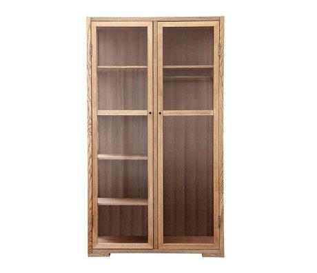 Housedoctor Kabinett Gedicht natürliches braunes Holz 120x55x210cm