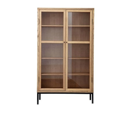 Housedoctor Cabinet Harmony bois brun naturel L 120x40x205cm