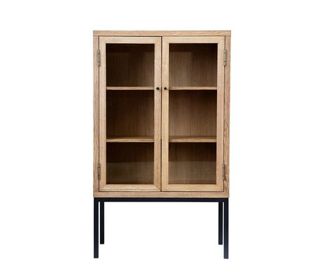 Housedoctor Cabinet Harmony natural brown wood S 90x40x150cm
