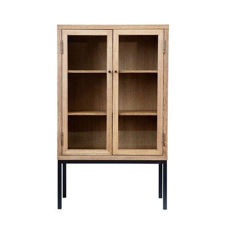 Housedoctor Kabinetkast Harmony naturel bruin hout S 90x40x150cm