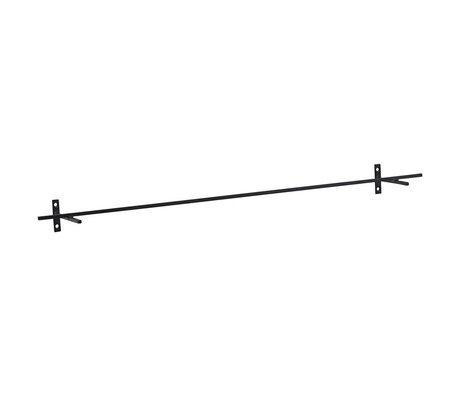 Housedoctor Wandrek Add zwart ijzer 70x9,5x5cm